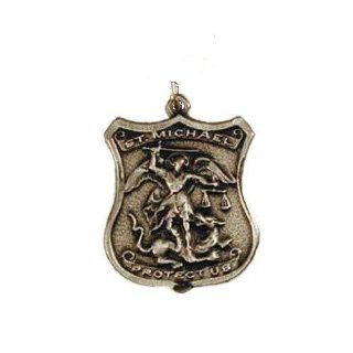 "St. MIchael & Guardian Angel Medal,20""Black Cord: Jewelry"