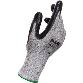 """MAPA Krynit 563 Nitrile Palm Coated Glove, Cut Resistant, 9 1/2"""" Length, Size 9, Black (1 Case) Cut Resistant Safety Gloves Industrial & Scientific"""