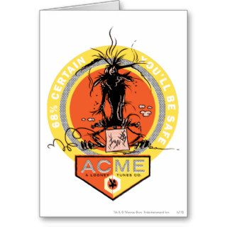 Wile E Coyote Acme   68% Certain You'll Be Safe Greeting Card