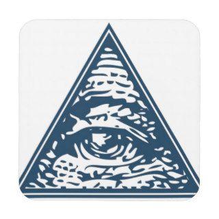Illuminati All Seeing Eye Masonic Beverage Coasters