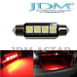 JDM Astar 4 SMD Error Free 569 578 211 2 212 LED Bulb For Car Interior Dome Light or Trunk Area Light, Brilliant Red Automotive