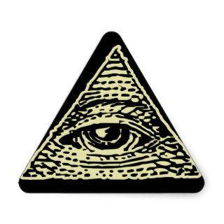 All Seeing Eye Triangle Sticker