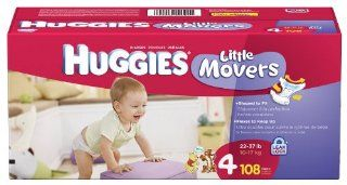 Huggies Little Movers Diapers, Size 4, 108 Count Health & Personal Care