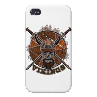 Sketch Viking skull iPhone 4 Cover