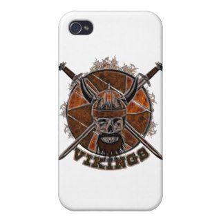 Sketch Viking skull iPhone 4 Cover
