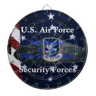 U.S. Air Force Security Forces Beret Dartboard