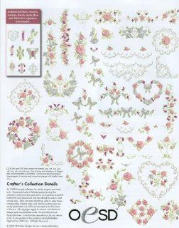 HEIRLOOM ROSE OESD Embroidery Machine Designs USB STICK   Home And Garden Products