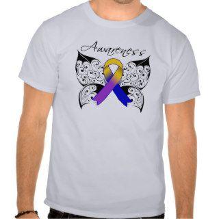 Tattoo Butterfly Awareness   Bladder Cancer Shirts