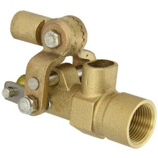 "Robert Manufacturing RF605T High Turbo Series Bob Red Brass Float Valve, 1/2"" NPT Female Inlet x Free�Flow Outlet, 27 gpm at 85 psi Pressure: Industrial Float Valves: Industrial & Scientific"