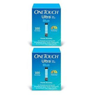 One Touch Ultra Blue Glucose Test Strips (200 Strips): Health & Personal Care