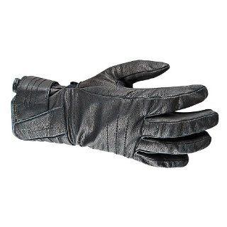 STREET & STEEL Big Bore Leather Motorcycle Gloves   2XL, Black Automotive