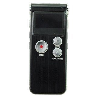 GH 609 Portable Digital Voice Recorder with 4 GB/WMA WAV&  Format/USB/Telephone Recording Black Electronics