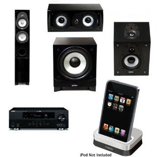 Energy CF 30 Floorstanding/Tower Speaker & CC 5 Center Channel Speaker & CR 10 Surround Speakers & ESW C8 8 Inch 240 Watt Subwoofer & Yamaha RX V665BL 630 Watt 7 Channel Home Theater Receiver & Yamaha YDS 11SL iPod Dock for select Yamah