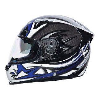 SEVEN ZERO SEVEN Vendetta 3 Destroyer Full Face Motorcycle Helmet   SM, Black Automotive