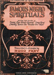 Vintage Cover to a Song Book: A COLLECTION OF 25 SELECTED FAMOUS NEGRO SPIRITUALS, TRANSCRIBED & ARRANGED BY HUGO PREY (no book, just the cover), Robbins Music Corporation: Everything Else