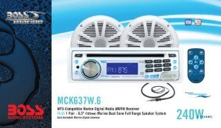 Boss Audio Systems MCK637W.6 Marine Receiver and Speaker Package  Vehicle Speakers