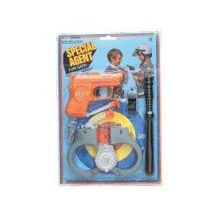 Kids Special Agent Pistol Cuffs & Badge Set 5 pc (1 Dozen Sets)