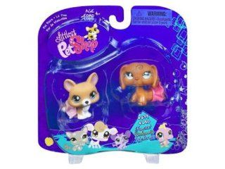 Littlest Pet Shop Pet Pairs Corgi & Dachshund: Toys & Games