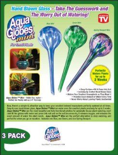 Aqua Globes Mini Glass Plant Watering Bulbs   3 Pack  Flowering Plants  Patio, Lawn & Garden