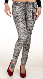 Flying Monkey Jeans Snake Print Skinny Pants (KL46WH)   Black & White   11 at  Women�s Clothing store: