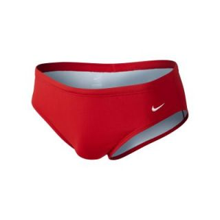 Nike Poly Core Solid Mens Swim Briefs   Red