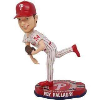 MLB Philadelphia Phillies Forever Collectibles Baseball Base Bobblehead Roy Halladay  Bobble Head Toy Figures  Sports & Outdoors