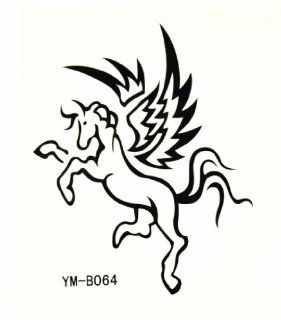 BT0032 Horse Temporary Body Skin Tattoo, Sticks On Almost Any Surface, Greek God   Childrens Temporary Tattoos