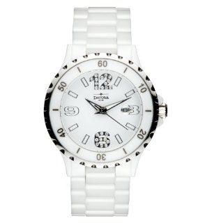 Davosa Ladies Ceramic Analogue Watch 16843914 with White Dial and 34 mm Ceramic Case: Watches