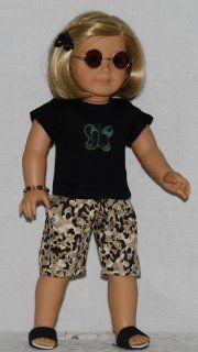 """Limited Edition 6 pc Camouflage Capri Outfit fits 18"""" American Girl dolls. Toys & Games"""
