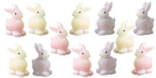 Biedermann 12 Bunny Candles, Assorted Pastel Colors, 3.675 Inch   Novelty Candles