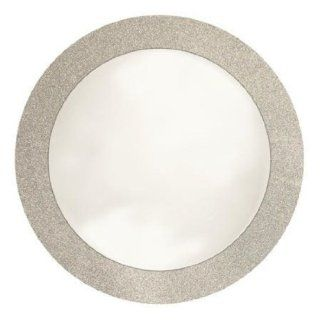 "Creative Converting Glitz Silver Round Placemats with 2"" Glitter Border, 8 Count Toys & Games"