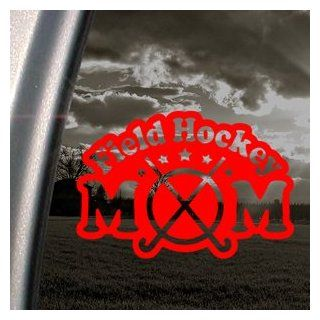Field Hockey Mom Red Decal Car Truck Window Red Sticker   Themed Classroom Displays And Decoration