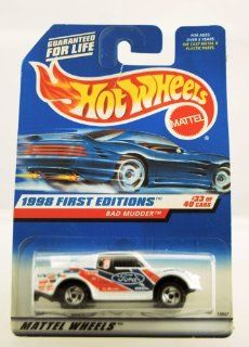 Hot Wheels   1998 First Editions   Bad Mudder   Ford Truck   Die Cast   Racing Paint Job   #33 of 40 Cars   Collector #662   Limited Edition   Collectible 164 Scale Toys & Games