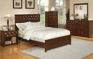 Inland Empire Furniture Suave Espresso Solid Wood Queen Bed Home & Kitchen