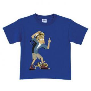 Wild Kratts Cheetah Cubs Royal Blue T Shirt Size 6 8: Clothing