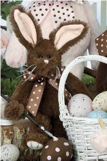 """Baby Fudge 8"""" Chocolate Scented Easter Plush Stuffed Animal Bunny by Bearington Toys & Games"""