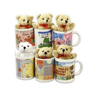 Mothers Day w/ Bear Plush Toy Cerramic Mug 6 Asstd Designs Toys & Games