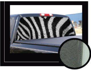"ZEBRA�16"" x 54""   Rear Window Graphic   back compact pickup truck decal suv view thru vinyl Automotive"