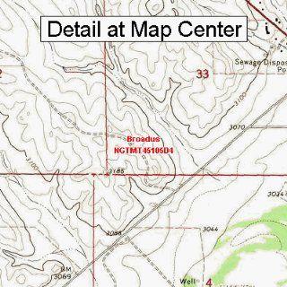 USGS Topographic Quadrangle Map   Broadus, Montana (Folded/Waterproof)  Outdoor Recreation Topographic Maps  Sports & Outdoors