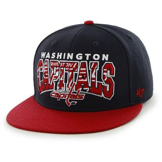 ea108b53ab4 ... 47 BRAND Washington Capitals Logo Infiltrator Snapback Cap Size   Adjustable    ...
