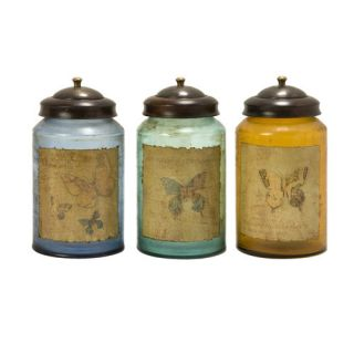 Certified International Hot Tamale Canister with Lid (Set of 4)
