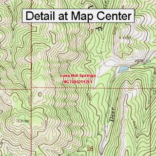 USGS Topographic Quadrangle Map   Lava Hot Springs, Idaho (Folded/Waterproof)  Outdoor Recreation Topographic Maps  Sports & Outdoors