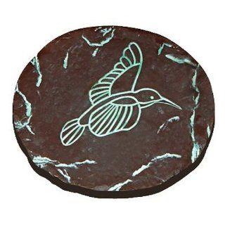 ALPINE CORPORATION WAC746 Decorative Hum Bird Step Stone, 8 Inch : Outdoor Decorative Stones : Patio, Lawn & Garden
