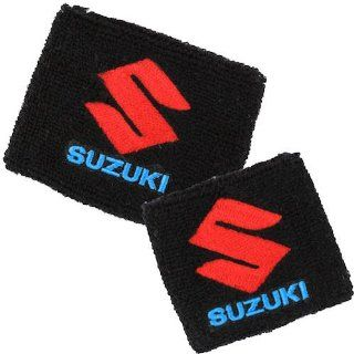 Suzuki Black Brake/Clutch Reservoir Sock Cover Set Fits GSXR, GSX R, 600, 750, 1000, 1300, Hayabusa, Katana, TL 1000, SV 650: Automotive