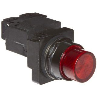 Siemens 52BL4J2 Heavy Duty Pilot Indicator Light, Water and Oil Tight, Plastic Lens, Transformer, 755 Type Lamp or 6V LED, Red, 480VAC Voltage Industrial & Scientific