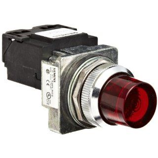 Siemens 52PL5G2 Heavy Duty Pilot Light, Water and Oil Tight, Glass Lens, Transformer, 6V 755 Type Lamp or 6V LED, Red, 120VAC Voltage Indicator Lights Industrial & Scientific