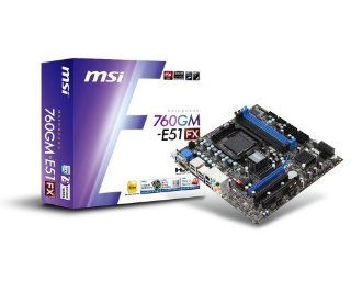 MSI Computer Corp. AMD 760G Micro ATX DDR3 1333 AM3+ Motherboards 760GM E51 (FX) Computers & Accessories