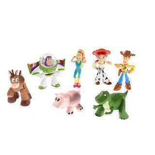 Disney / Pixar Toy Story 3 Exclusive Mini Figure Buddy 7Pack Heroes Gang Gift Pack Rex, Hero Buzz, Woody, Jessie, Hamm, Bullseye Barbie Toys & Games