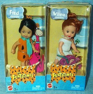 """Barbie Kelly Fred and Wilma Flintstones 4"""" Dolls Toys & Games"""