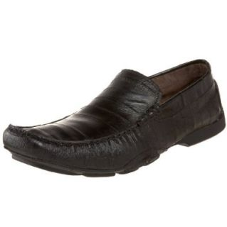Kenneth Cole New York Men's Drive Home Driving Shoe, Black Eel Embossed Leather, 7 M US: Loafers Shoes: Shoes